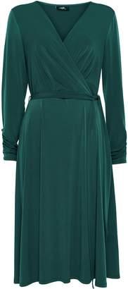 Wallis Teal Belted Wrap Midi Dress