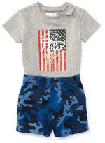 Ralph Lauren Baby Boys Flag Tee and Camo Shorts Set
