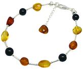 Goldmajor Sterling Silver Bead Bracelet, Amber