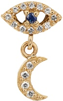 Ileana Makri Diamond, sapphire & yellow-gold earring