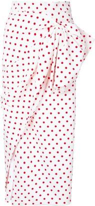 Bambah Polka Dot Print Ruched Skirt