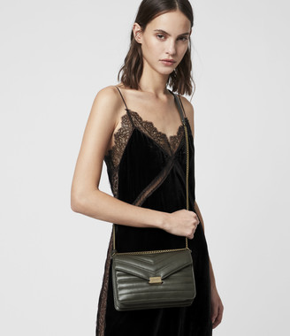AllSaints Justine Small Leather Crossbody Bag