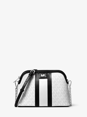 MICHAEL Michael Kors Large Logo Stripe Dome Crossbody Bag