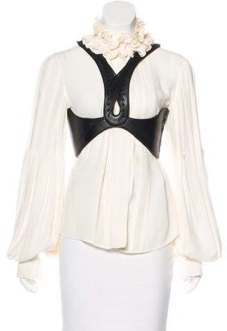 Alexander McQueen Silk Harness Blouse