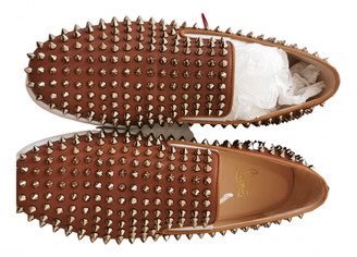 Christian Louboutin Roller Boat Camel Leather Trainers