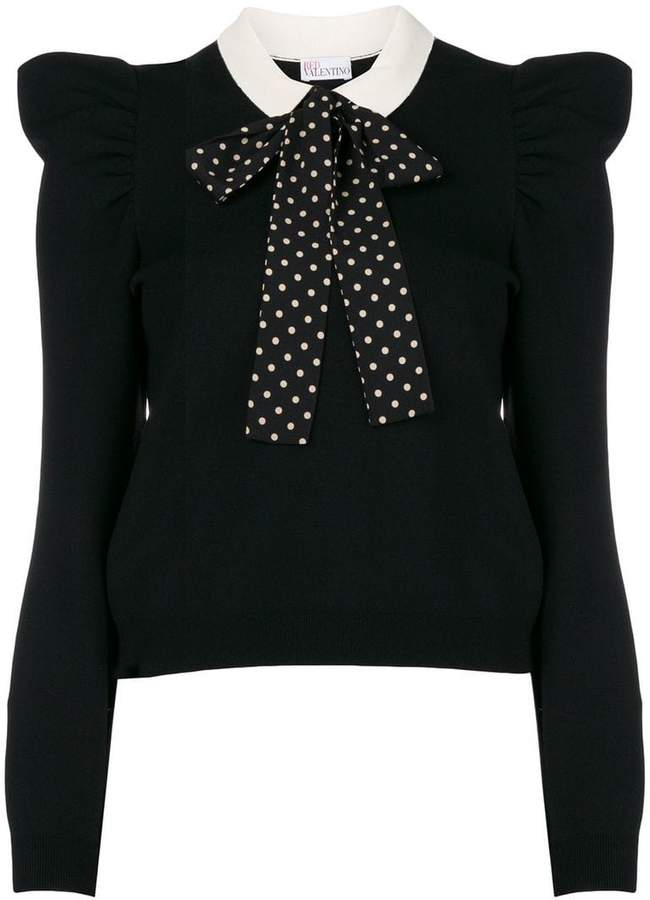 RED Valentino pussybow knitted top