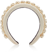 Avenue Amelia Alice Faux Pearl-Embellished Velvet Headband