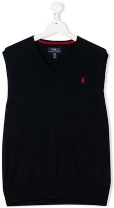 Ralph Lauren Kids V-neck knitted vest top