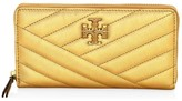 Tory Burch Kira Chevron Metallic Leather Wallet