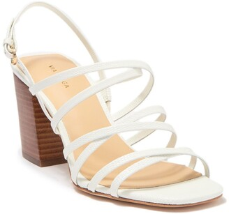 Via Spiga Everly Lizard Embossed Leather Sandal