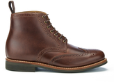 Grenson Sharp Pull Up Leather Lace Up Boots Chestnut