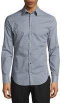 Giorgio Armani Gingham-Check Cotton Button-Down Shirt