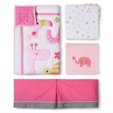 Circo 4pc Crib Bedding Set - Snooz 'n Safari Girl