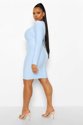 boohoo Plus Bandage Sculpt Cut Out Bodycon Dress