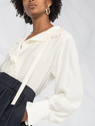 Chloé Ruffle-Trimmed Blouse