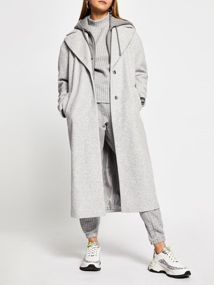 River Island Hoodie Hybrid Coat - Grey