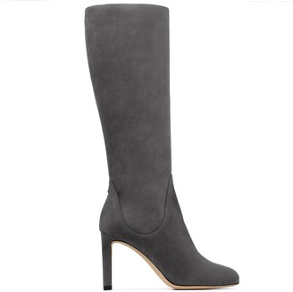 Jimmy Choo TEMPE 85 Dusk Suede Leather Knee Boots