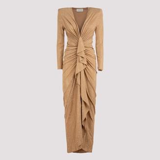 Alexandre Vauthier Embellished Draped Dress