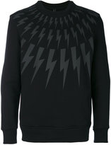 Neil Barrett printed sweatshirt - men - Cotton/Spandex/Elastane/Viscose - S