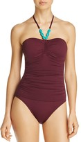 Lauren Ralph Lauren Burgundy One Piece Swimsuit