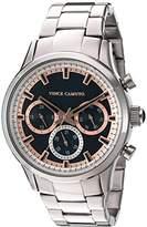 Vince Camuto Men's VC/1087NVSV Multi-Function Dial Silver-Tone Bracelet Watch