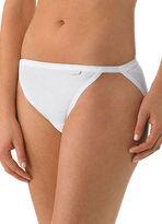Jockey Womens Elance String Bikini 3 Pack Underwear String Bikinis 100% cotton