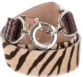 Dolce & Gabbana Ponyhair Printed Belt