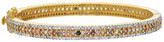 Forever Creations 18K Gold Over Silver 5.20 Ct. Tw. Diamond & Sapphire Bangle