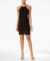 Jessica Simpson Metallic Layered Halter Dress
