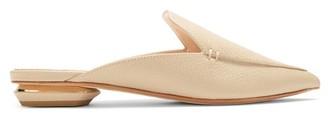 Nicholas Kirkwood Beya Grained-leather Backless Loafers - Light Beige