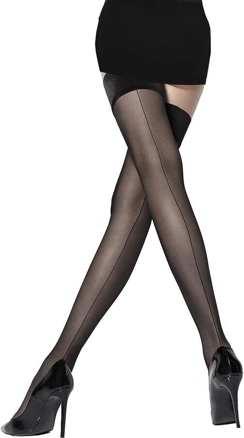 Marilyn transparent stay- seam stockings 20 denier size 40/42 (M / L)