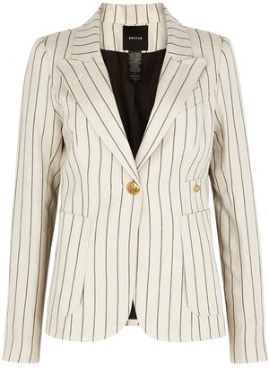 Smythe Duchess striped linen-blend blazer