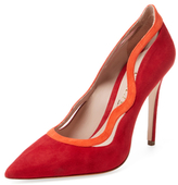 Aperlaï Bicolor Suede Pointed-Toe Pump