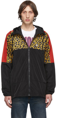 Marcelo Burlon County of Milan Black Leopard Windbreaker Jacket