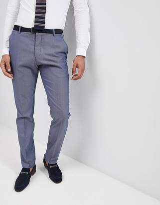 Selected suit trouser in slim fit text-Navy