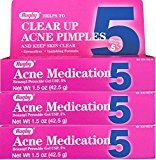 Oxy Benzoyl Peroxide 5 % Generic for Balance Acne Medication Gel 1.5 oz 3 PACK