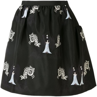 Undercover pull-on A-line skirt