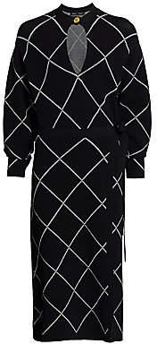 Proenza Schouler Women's Knit Keyhole Wrap Dress