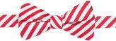 Countess Mara Men's Red & White Stripe Pre-Tied Bow Tie