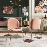 Everly Guillemette Velvet Upholstered Side Chair Quinn Upholstery Color: Pink