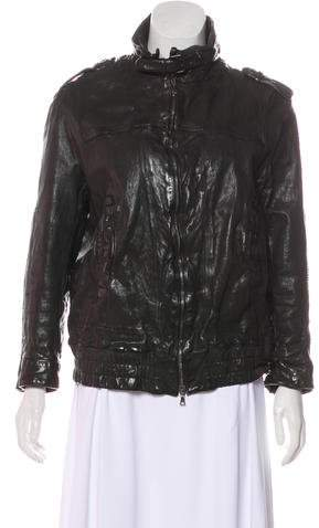 Neil Barrett Leather Lace-Up Jacket