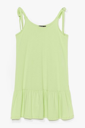 Nasty Gal Womens Just Tie Your Best Relaxed Mini Dress - Lime