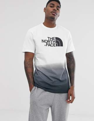 The North Face Dip-Dye t-shirt in white/black