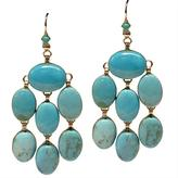 Blue Turquoise Cabochon Earrings by Siman Tu