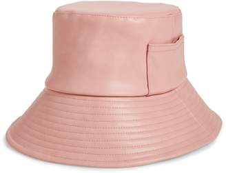 LACK OF COLOR Wave Faux Leather Bucket Hat