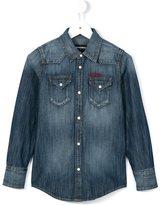 DSQUARED2 western denim shirt - kids - Cotton - 8 yrs