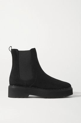 Tod's Suede Chelsea Boots - Black