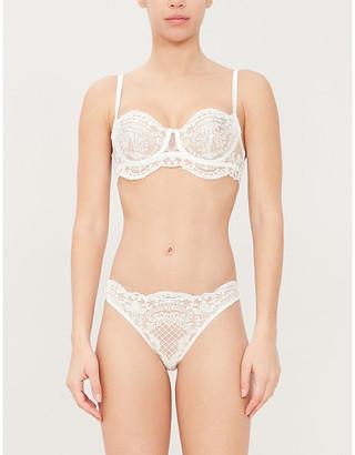 I.D. Sarrieri Bella Bridal lace longline balconette bra