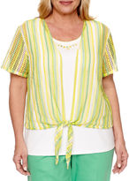 Alfred Dunner Short Sleeve Layered Top Plus