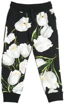 Dolce & Gabbana Floral Printed Cotton Jogging Pants